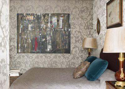 Dormitorio, Bedroom, bed, interior design, luxury, pintura Esteban Leyva
