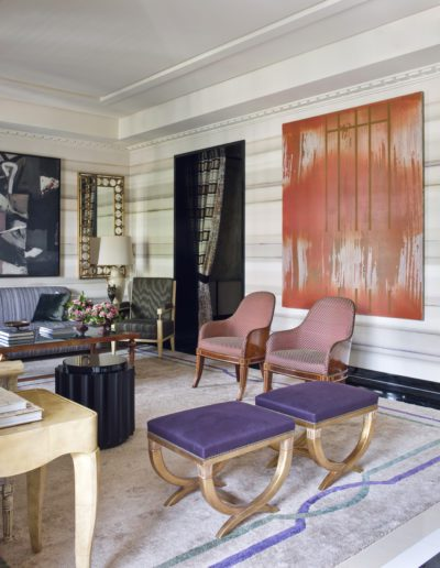 salón, living room, sophisticated, interior design, decoración, pintura José Manuel Broto