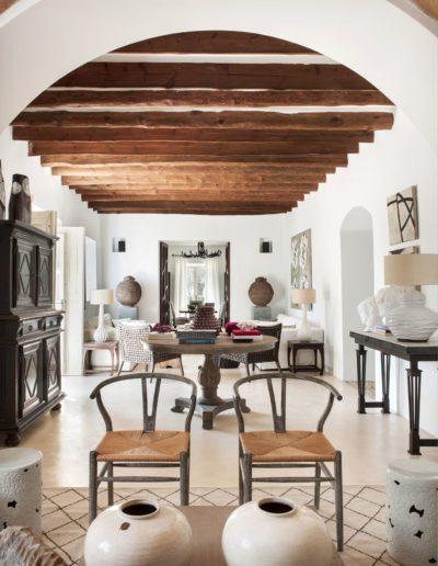 11a Salón, living room, wishbone chair, Hans Wegner