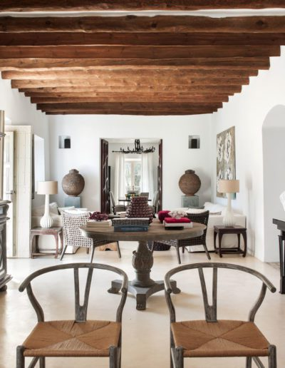 11b Salón, living room, wishbone chair, Hans Wegner
