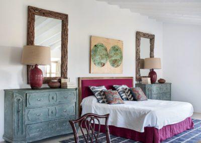 21 Bedroom, dormitorio, summer house, fresco, verano, espejo, mirror