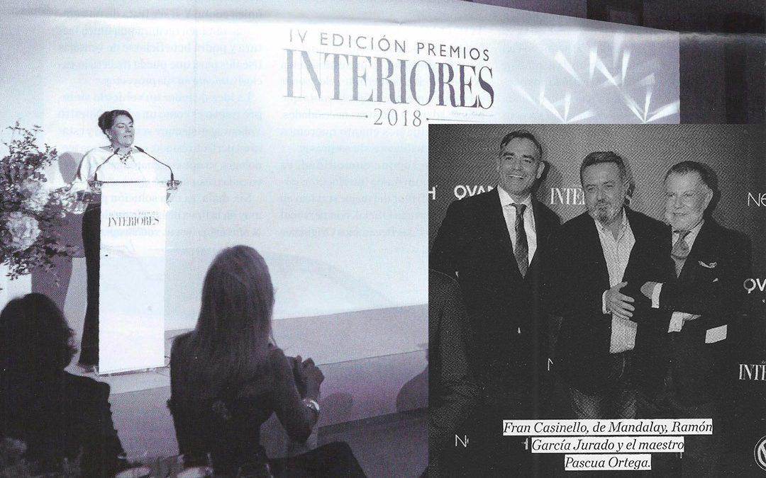 Fiesta de entrega de premios Revista Interiores 2018