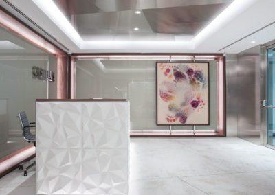 3 pintura, painting, José María Sicilia, Hall, recepción, steel, acero, cristal, glass