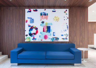 5 sofa, paredes madera, wood paneling, nogal, pintura, pablo lambertos