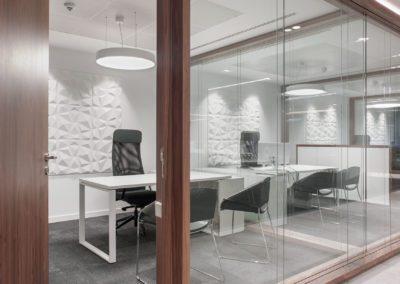 7 mamparas cristal oficina mesa de trabajo workplace prismas paneles 3d office