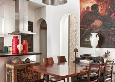 Cuadro painting Mario Stroppa mesa table palisandro Rosewood cerámica ceramics Germany 1950s