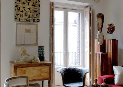 Salón Esfinge Sphinx Klismos Gustavian contemporary Africa art Galouchat