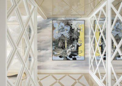 1 Hall Marmol marble cristal transparencia elegante sophisticated luxury lujo sofisticado cuadro painting by Xavier Grau