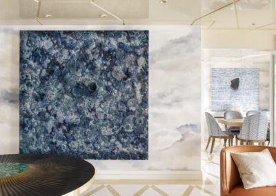 6 Hall living room salón Marmol marble chaiselounge elegante lujo sofisticado mesa gueridon by Yann Dessauvages cuadro painting by Bosco Sodi